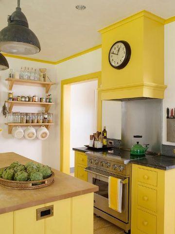 colores de pintura para cocina amarillos