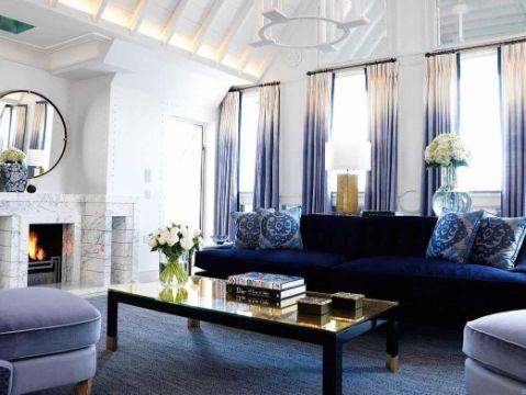 cortinas para la sala modernas contraste en tela