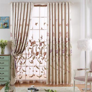 cortinas para la sala modernas tela estampada