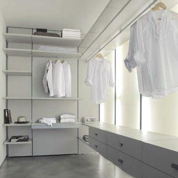 decoracion de vestidores pequeños minimalista