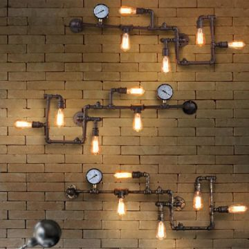 decoracion industrial paredes iluminacion
