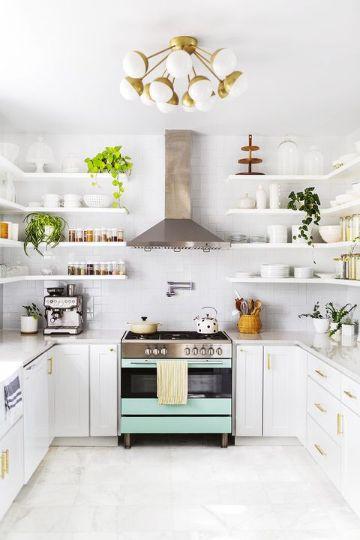 decoraciones de cocinas modernas repisas originales