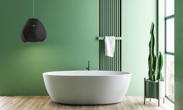 plantas para baños oscuros minimalistas