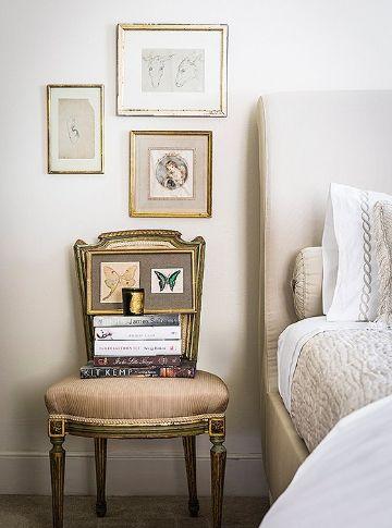 sillas para decorar habitaciones para usar como mesa de noche