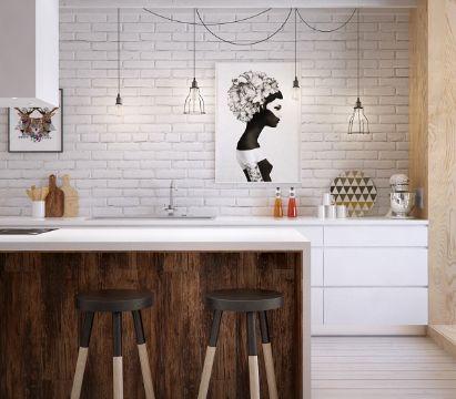 barras de cocina de madera en decoracion moderna
