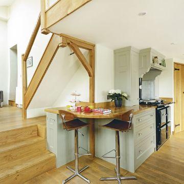 barras de cocina de madera para aprovechar espacios