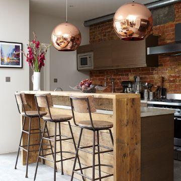 barras en la cocina comedor rusticas