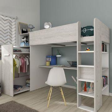 camas con escritorio para niñas funcionales