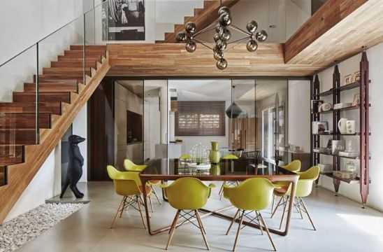 casa de dos pisos de madera modernas