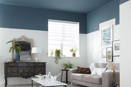 como pintar salas modernas efectos a dos tonos