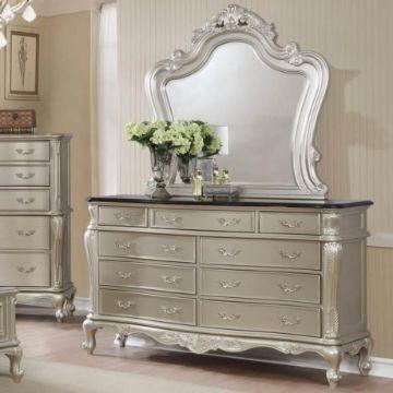 comodas de madera con espejo vintage