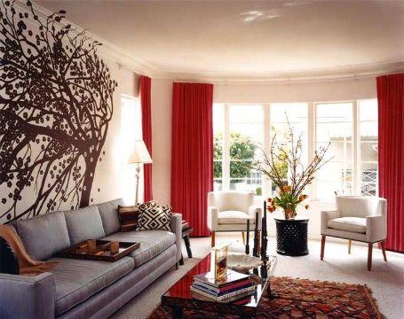 diseños de cortinas para salas para grandes ventanales