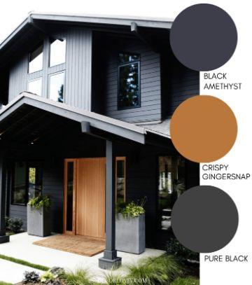 exteriores de casas pintadas tonos oscuros