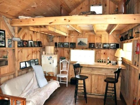 interior de cabañas rusticas pequeña