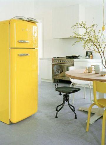 muebles de cocina vintage refrigerador