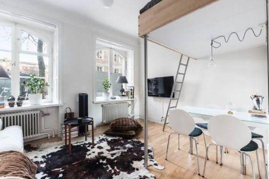 tips para departamentos pequeños camas elevadas