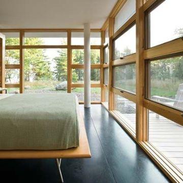 ventanas de madera modernas muros completos