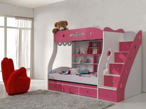camas para niñas modernas de dos niveles