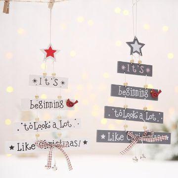 cartas navideñas creativas arboles colgantes
