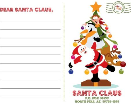 cartas navideñas creativas con sello postal
