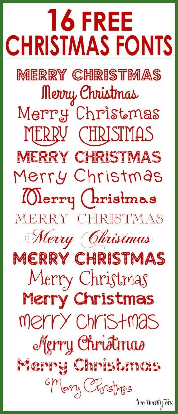 cartas navideñas creativas tipografias para la fecha