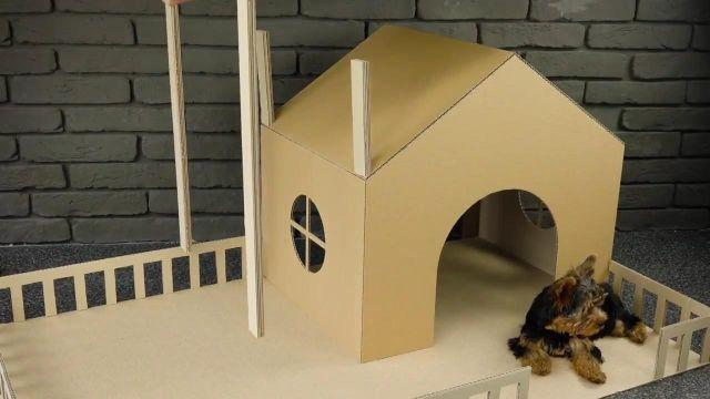 casas de carton para perros interiores