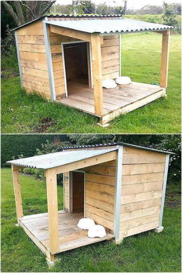 casas para perros grandes con portico
