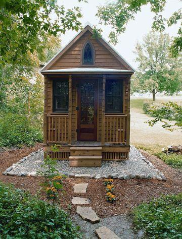 casas pequeñas con jardin de piedra