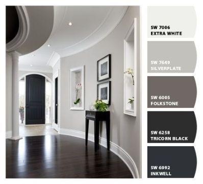 como pintar un apartamento moderno paleta gama gris