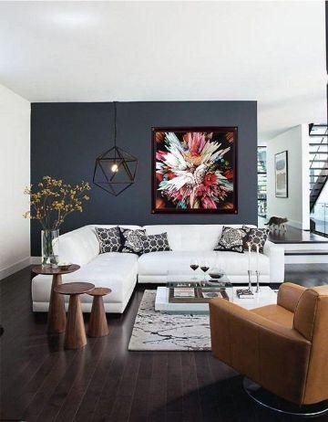 como pintar un apartamento moderno un muro de un color
