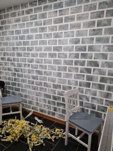 como pintar una pared de ladrillo para cocinas