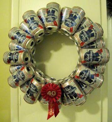 coronas navideñas recicladas con latas