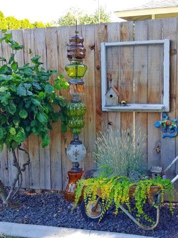 decoracion de jardines pequeños adornos y macetas originales