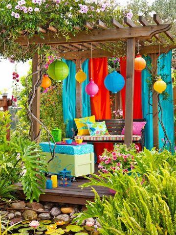 decoracion de jardines pequeños con miniterrazas