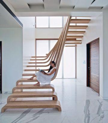 escaleras para segundo piso modernas