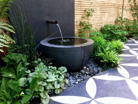 jardines pequeños en casa fuente