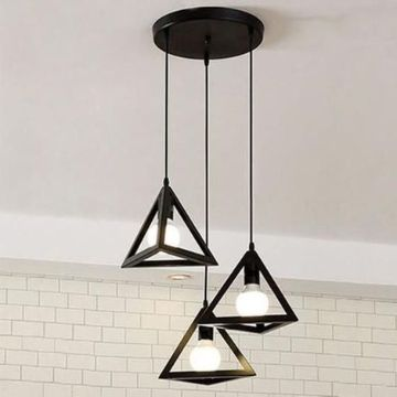 lamparas de techo para sala triangulares