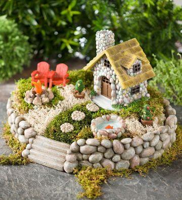 modelos de casas con jardin diminutos