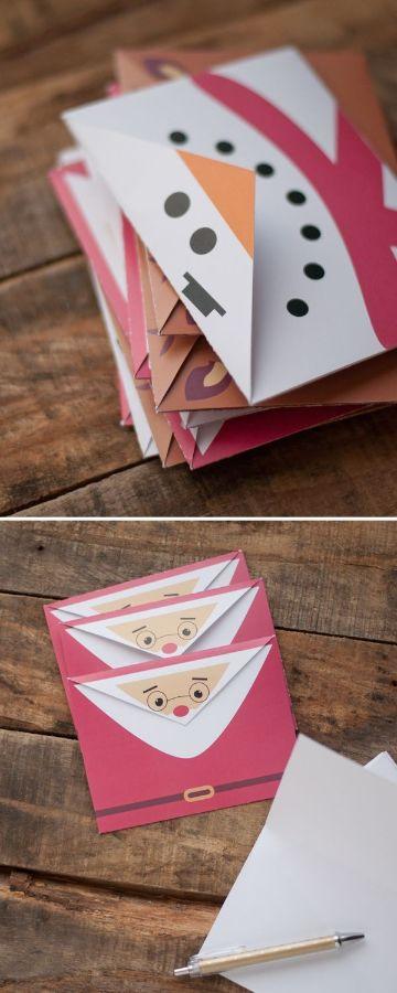 sobres navideños para imprimir para cartas
