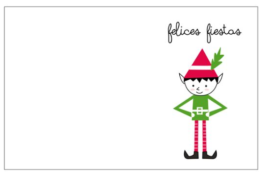sobres navideños para imprimir postal