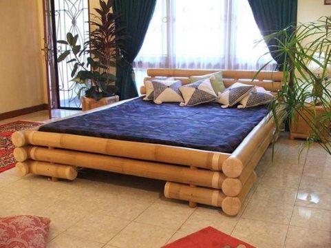 decoracion con bambu para salas camas