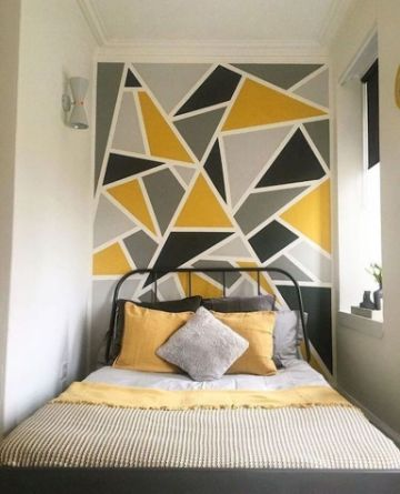 decoracion para pared de cuarto formas geometricas