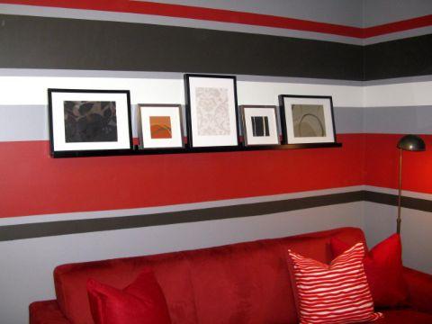 diseños de pintura en paredes franjas de colores