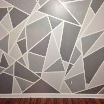 diseños de pintura en paredes geometrico