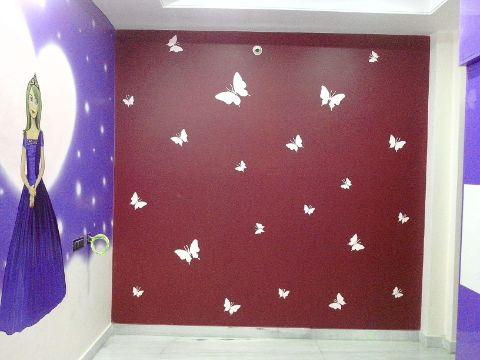 diseños de pintura en paredes para cuartos de niñas