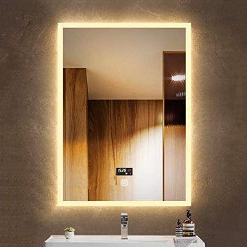 espejos grandes de pared luminosos para baño