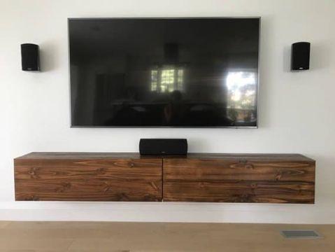 estantes flotantes para tv de madera