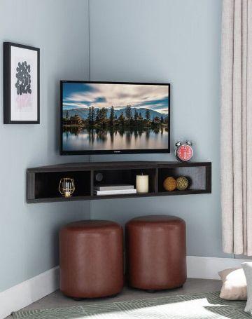 estantes flotantes para tv en esquinas