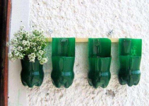 macetas de plastico reciclado para colgar