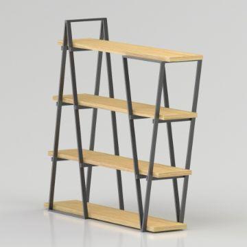 modelos de libreros de madera efectos en 3d